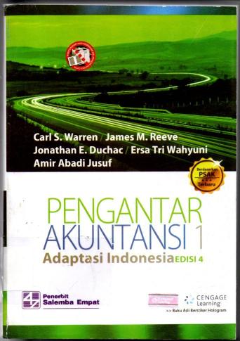 Pengantar Akuntansi 1 Adaptasi Indonesia Edisi 4 berdasar PSAK terbaru ( Buku Sedang )
